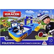 IGRÁČEK - Policista s policejní stanicí a doplňky
