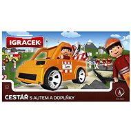 IGRÁČEK - Cestář s autem a doplňky