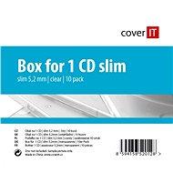 Krabička slim na 1ks - čirá (transparent), 5.2mm, 10pack