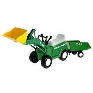 Farmářský traktor s vozíkem