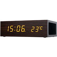 CONNECT IT Qi Alarm Clock tmavě hnědý