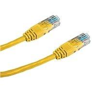 Datacom, CAT5E, UTP, 0.5m, žlutý