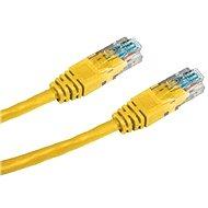 Datacom, CAT6, UTP, 0.5m, žlutý