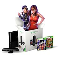 Microsoft Xbox 360 4GB Kinect Bundle + Kinect Adventures + Dance Central 3 (Reface Edition)